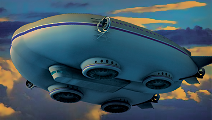 Transportation tech- hybrid airships